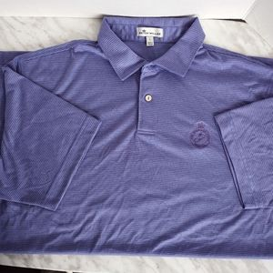 🥦Peter Millar Mens Polo Shirt Purple Striped